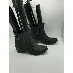 Roxy Tawny Vegan Leather Ankle Boots w/Buckle